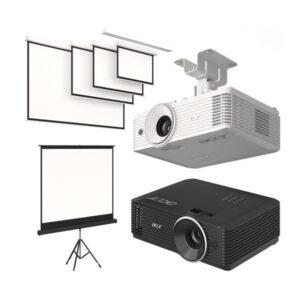 Projectors + Screens